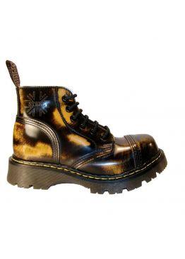 Зимние ботинки оранжево-черные Steel с шерстью 6 дырок 127-128/CL/YELLOW/BLACK