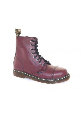 Середні черевики Steel бордові на 8 дірок