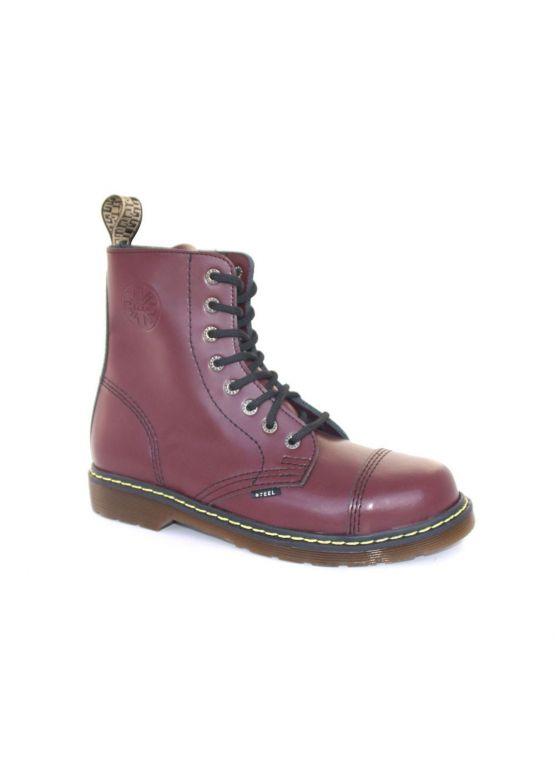 Зимние ботинки Steel с шерстью бордовые 8 дырок 114/AL/F.BUR заказать online