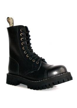 Високі черевики Steel чорні на 10 дірок