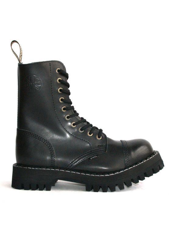 Высокие ботинки Steel черные 10 дырок 105-106/OM/B заказать online