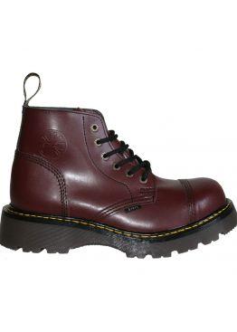 Середні черевики Steel бордові на 6 дірок