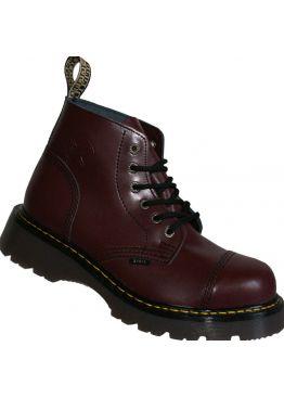 Средние ботинки Steel бордовые 6 дырок 127-128/CL/FULL BURGUND