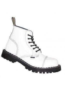 Середні черевики Steel білі на 6 дірок