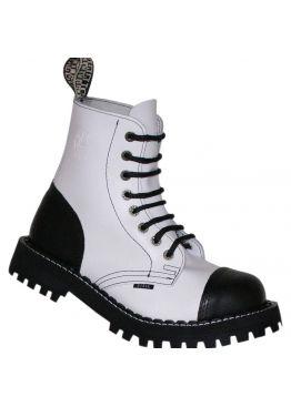 Середні черевики Steel чорно-білі на 8 дірок