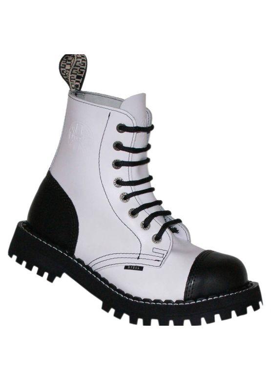 Середні черевики Steel чорно-білі на 8 дірок замовити online
