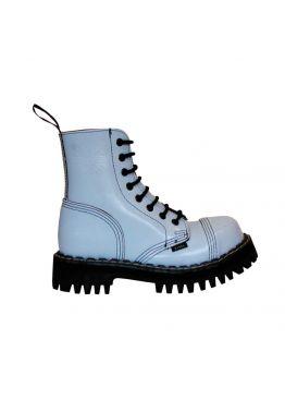 Середні черевики Steel блакитні на 8 дірок